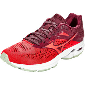 Mizuno Wave Rider 23 Running Shoes Women mauve wine/cayenne/bok choy